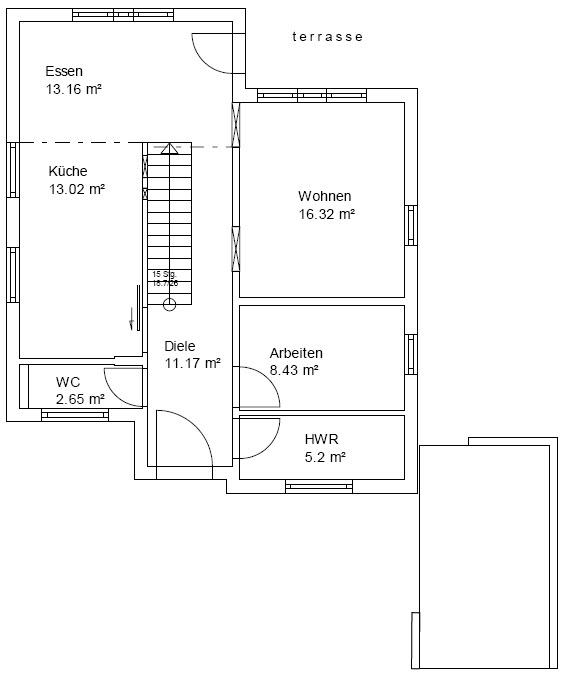 Bakken Grundriss Erdgeschoss